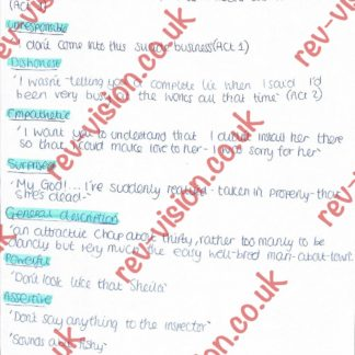 Inspector Calls Charactors Analysis Page 002
